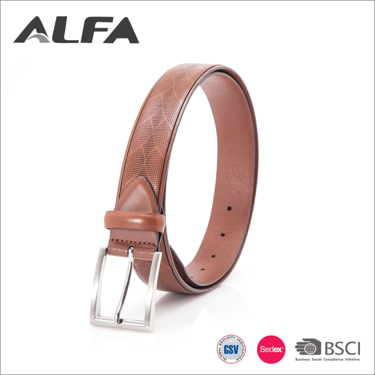 Alfa Wholesale Custom Design Pattern Cheap Mexican Leather Belts For Men