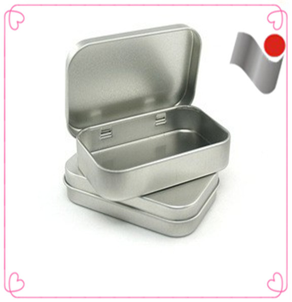 Empty metal packaging soap tin box