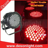 54 3w ip65 waterproof Rgb 3in1 tricolor led par can