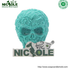 R1326 HALLOWEEN 3D Skull Soap Moulds Soap Silicon Mould