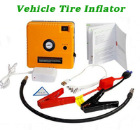 Portalbe multi-functional Vehicle Tire Inflator with rechargeable battery/LED lamp/output 5V/15V voltage
