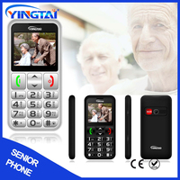 1.77 inch SOS boutton big display dual screen Flip elder senior cell phone