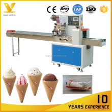 Flow Pillow Ice Cream Cone Cake Packing Machine