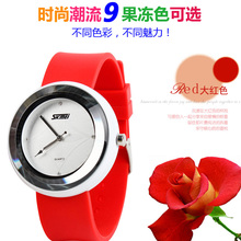 China factory Multicolor jelly silicon smart quartz watch for elegant lady,accept small stock order