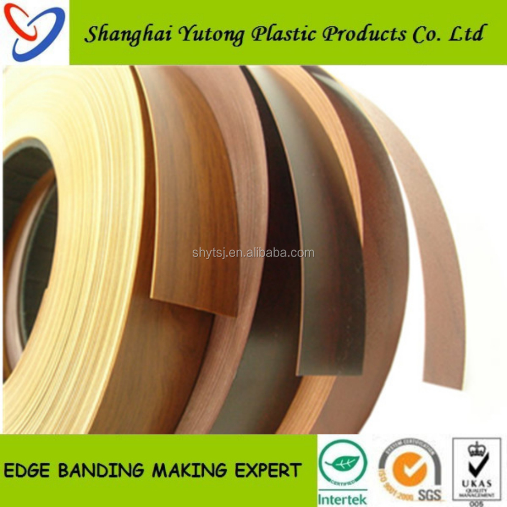 Interior decorative shelf edging, pvc edge trim, edging strip rolls
