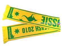 2014 100% acrylic jacquard woven world cup promotional national team soccer fan scarf