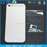 Replacement housing for iphone 5 battery cover, back door for iphone 5 with small parts