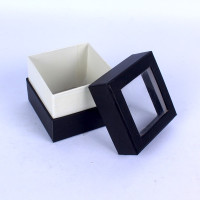 Custom New Design Paper Box With Clear Plastic Cover