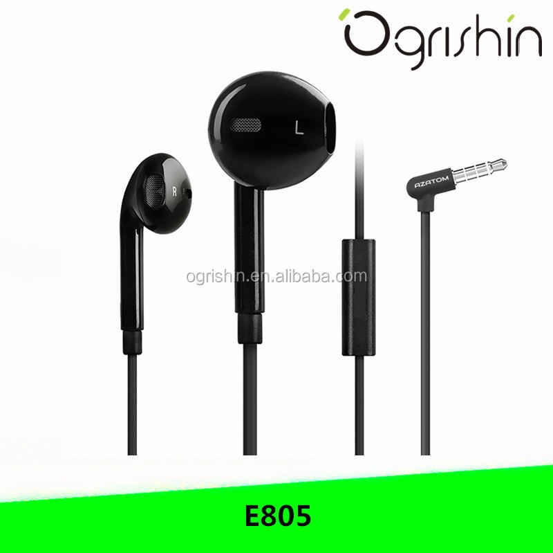 2017 wholesale hot retractable wired stereo earphone mobile phone accessories