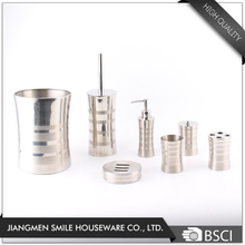 Wholesale Hotel 7 Pieces Stainless Steel Accessories Toothbrush Holder Bathroom Set