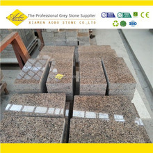 China Honed Merry Gold driveway granite pavers,Brown lowes patio Paver