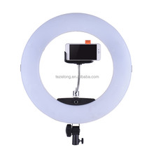 Bi-color FS-480II 3200K-5500K with Smartphone Holder/ Adapter For Studio Video and 480 LED Ring Light 1000pcs SMD Bead 96W