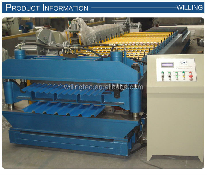Used double layer steel frame wall panel roll forming machine for sale