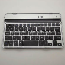 Factory Price Aluminum Bluetooth Keyboard for Google Nexus 7,Wireless Aluminum Keyboard for Google Nexus 7 Black
