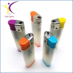 Hot selling semi transparent colored plastic lighter