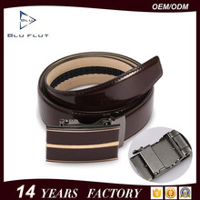 China Factory Custom 105-125cm Length Genuine Leather Belts for Men with Alloy Steel Auto Buckle
