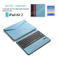 Wholesale Portable 3.0 bluetooth keyboard Leather Case for iPad Air 2/iPad 6