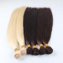 Wholesale comfortable free shedding thiner hand tied weft peruvian virgin hair straight