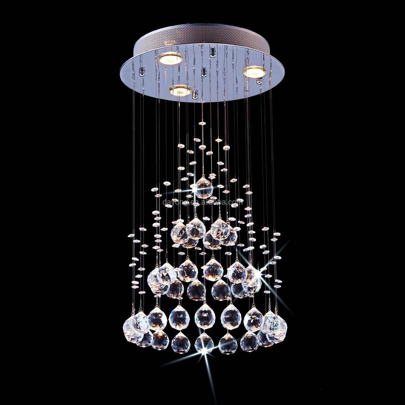 Modern Egypt Asfour K9 Crystal Ripples Raindrop Chandelier Lighting