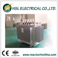 Low Loss High quality 11KV 3 phase oil immersed electric power transformer