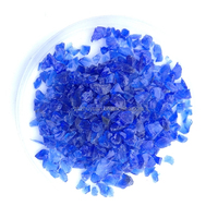 Decorative cobalt blue glass chipping for garden decoration