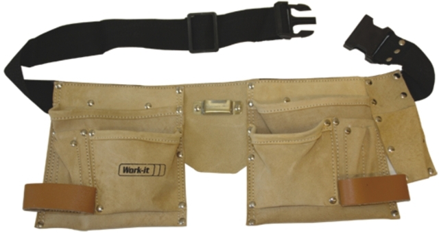Tool apron leather