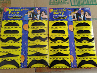 wholesale Dress up Polyester party beard/ Black Halloween fake beard mustache
