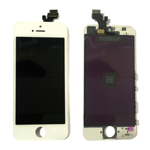 lcd digitizer assembly cheap for iphone 5 with 5s 5c home button screen display camera replacement spare parts replacment