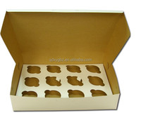 kraft paper board cupcake box with inserts