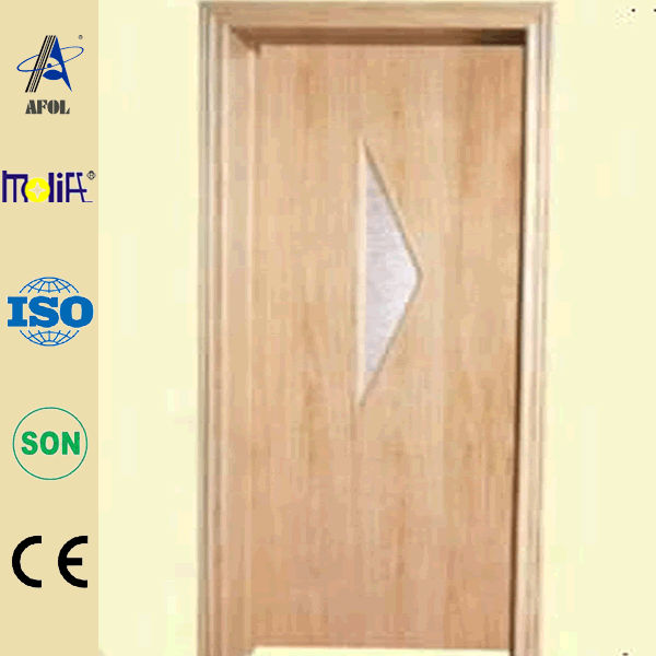 China manufactory inexpensive morden design wooden interior door with pvc coating