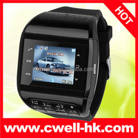 PS-Q8 Dual SIM Card Four Band GSM Watch Mobile Phone 1.33 Inch with Keyboard FM Bluetooth