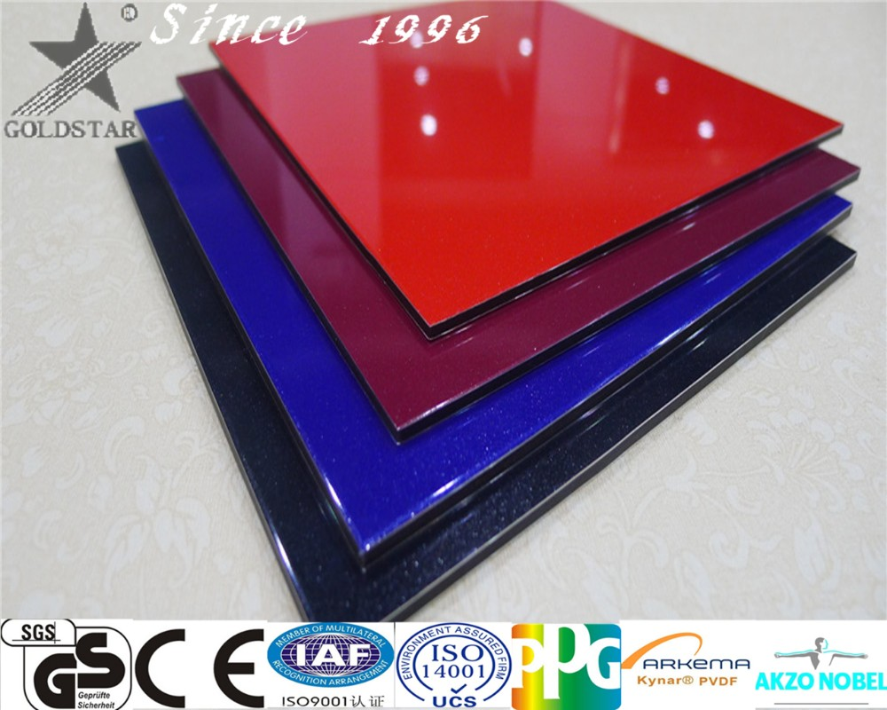 Foshan Building Material Curtain Pearl blue aluminum composite panel