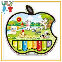 Plastic Musical Instrument Toy Kids Electronic Organ Learning Machine Animal Organ Apple Organ