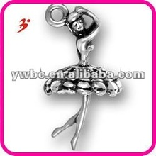 newest 2012 alloy antisilver plated ballerina with dress jewelry accessory(185936)