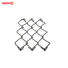 50*50mm Diamond Black Plastic Chain Link Fence Price With Chain Link Fence Fittings