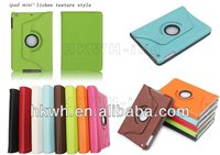 For mini ipad case with 360 degrees rotatable smart cover stand