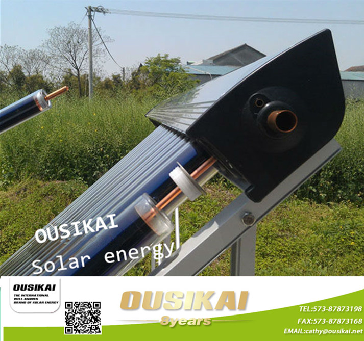 Vacuum Tube Solar Thermal Collector Panel With Heat Pipe