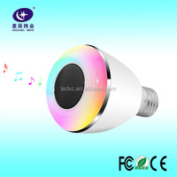 Timer+Android IOS APP Mode Control Color Changable E27 Bluetooth Speake Music Bulb with CE Approved