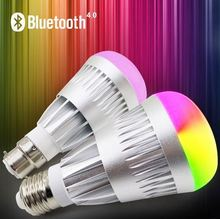 Langma AC100-240V Phone Control Colorful Music LED Light Bulb Bluetooth Speaker 2 IN 1 Portable Music Smart RGB Bubble Lamp