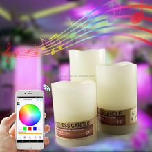 bluetooth Flameless Led Candle Flickering Led Tea Light Made out of Real Paraffin Wax