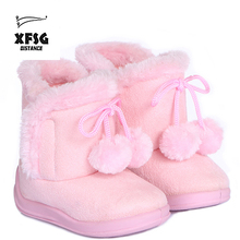 Girls pretty snow winter boots for kids.