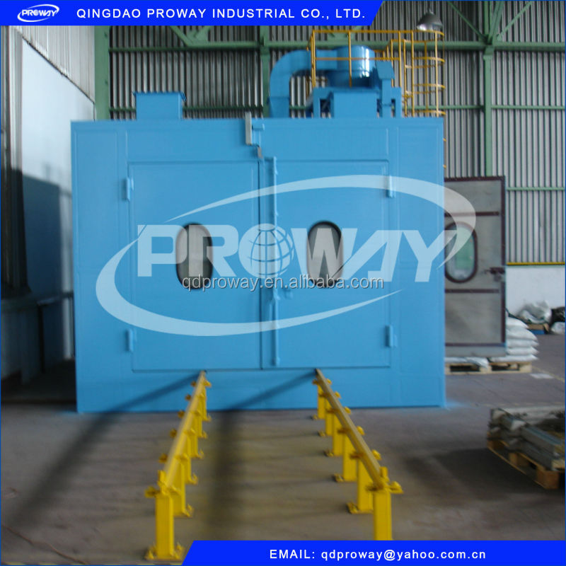 steel casting surface cleaning sand grit blasting room