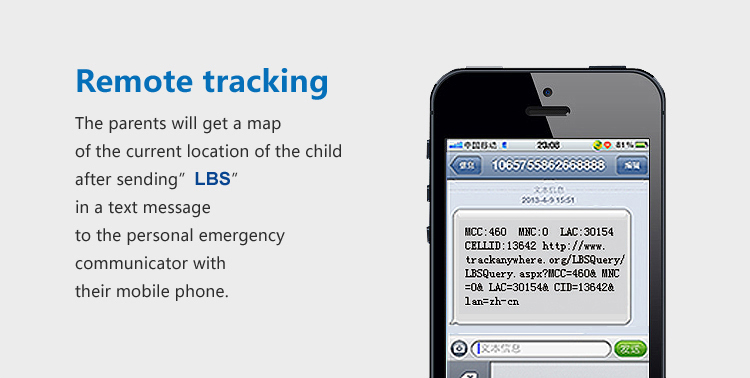 Real time GSM SOS help gps tracker for kids