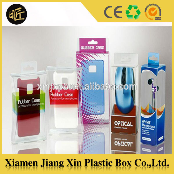 Offset printing plastic boxes for electronics mobile phone case packaging