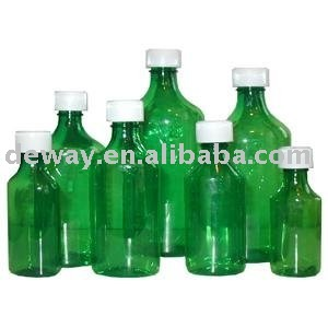 pharmacy bottle oval bottle green medicine liquid bottle (vials, bottle,solid container jar)