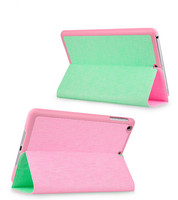 High Quality Leather Flip Cover / Leather flip case for iPad mini .