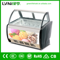 2017 LVNI GHK-20 ice cream machines freezer display for ice cream glass display showcase