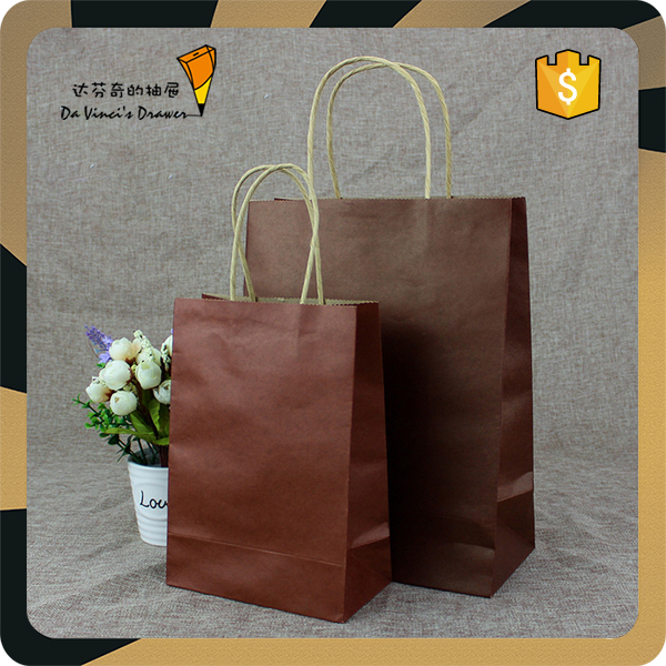 wholesale shopping decorative kraft paper bag