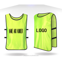 customized hot selling soccer training vest multicolor cheap price for men and kids