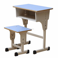 Cheap school single desk and chair